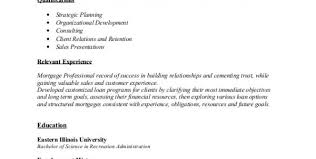 Mortgage Broker Resume Sample by Sample Mortgage Loan Officer Resume Mortgage Loan Officer Resume