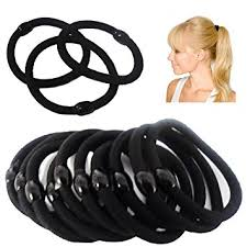 hair bobble hair bobble elastic black pack of 10 co uk beauty