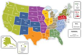 federal circuit court map the relationship between state and federal court systems in the