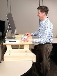Standing Desk On Top Of Existing Desk Desk Image Of Adjustable Standing Desk Converter Glass Top