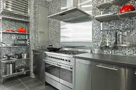 awesome grey stainless steel kitchen cabinets gas range wall mount full size of kitchen elegant grey stainless steel kitchen cabinets ceramic mosaic tile backsplash stainless