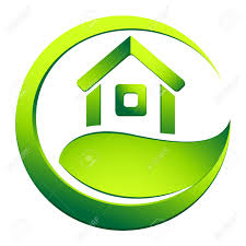 eco friendly house real estate symbol royalty free cliparts