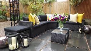 rattan corner sofa black brantwood rattan corner sofa 5 modular set patio