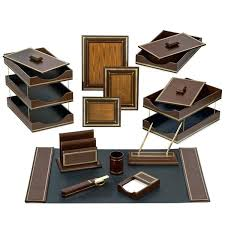 Desk Organizer Sets Leather Desk Accessories Office Accessories Leather Desk Organizer