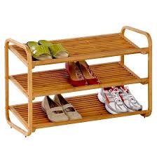 Shoe Rack by Honey Can Do 3 Tier Deluxe Bamboo Shoe Rack Target