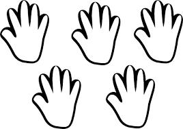 handprint template printable free download clip art free clip