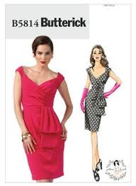 v shaped dress pattern bias cut dress pattern draped neck fitted bodice flared skirt v
