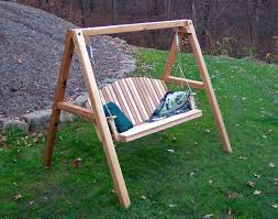 wooden porch swing with metal frame porch swing frames porch swing