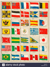European Countries Flag Flags Of 1880 Including Asian European North African And South