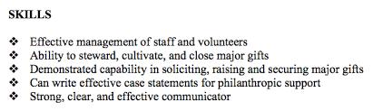 resume example key skills section skills summary on resume sample