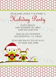 holiday houses landscape custom christmas party invitation