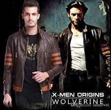 Halloween Costumes Biker Marvel Movie Hero Men Wolverine Logans Xo Replica Faux Leather