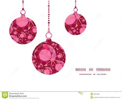 vector ruby christmas ornaments silhouettes stock vector image