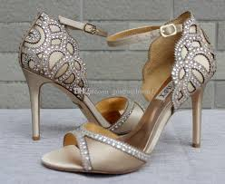 blue chagne wedding shoes 2017 bridal heels evening heels for