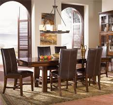 Mission Style Dining Room Set by Aamerica Mesa Rustica Trestle Dining Table Wayside Furniture
