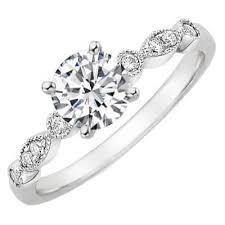 scalloped engagement ring scalloped engagement ring set with 0 10 carat diamonds