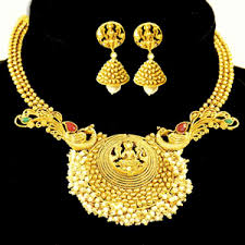 new necklace set gold images Pinky 39 s collection stylish necklace set gold plated necklace gif
