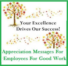 appreciation messages and letters employees