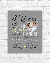 8th anniversary gift ideas for 8 year wedding anniversary gift ideas wedding anniversary