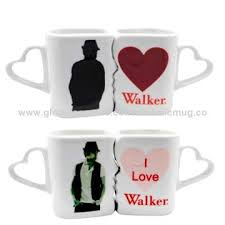 heart shaped mugs customized lover color changing porcelain mugs with heart