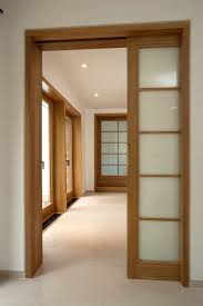 sliding interior doors completing modern interior with movable
