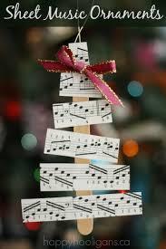 sheet tree ornaments happy hooligans