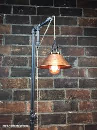 industrial edison bulb floor lamp copper shade photos 25 cool
