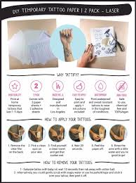 amazon com tattify diy temporary tattoo paper 2 pack for laser