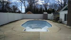 Deep Backyard Pool by An Easy Cost Effective Way To Fill In Your Old Swimming Pool