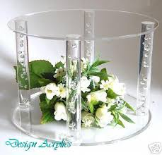 acrylic cake stands stunning large acrylic cake stand base solid rod