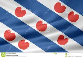 flag of friesland netherlands royalty free stock images image