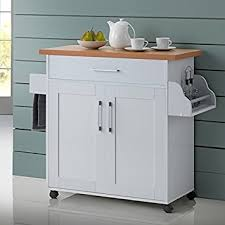kitchen island wood top amazon com kitchen island cart on wheels with wood top rolling