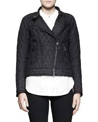 all black motorcycle jacket belstaff longston lightweight quilted moto jacket in black lyst