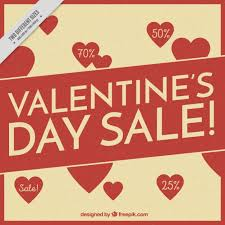 s day sales background of s day sales with hearts vector free