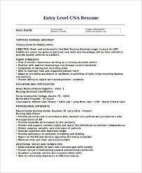 Sample Resume Cna by Hha Resume Template Billybullock Us