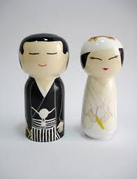wedding gift japanese kokeshi doll wooden dolls traditional japanese by mynihonjin