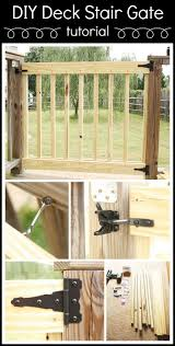 Unusual Decking Ideas by Best 25 Deck Gate Ideas On Pinterest Diy Safety Gates Patio