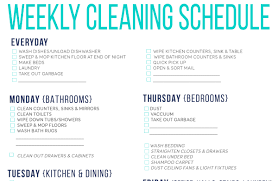 printable house cleaning schedule free printable cleaning schedule for household chores simplemost