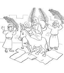 jesus in the manger coloring page palm sunday jesus entry into jerusalem in palm sunday coloring