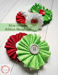 a glimpse inside how to make ribbon medallions