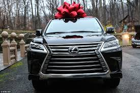 new car gift bow bankrupt teresa giudice s 90 000 lexus suv gift because she