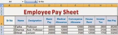 employee pay sheet formulas in microsoft excel perfect computer