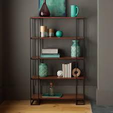 Single Bookcase Aspen Painted Oak Sage Grey Tall Bookcase Bookshelf With Doors