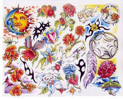 wings flowers butterfly sun n moon tattoos moon