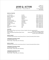 Music Resume Example by Acting Resume Example Actors Resume With No Experience Sample