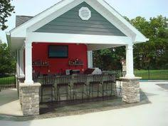 pool houses with bars gable over bar rock on columns garage pinterest pool houses