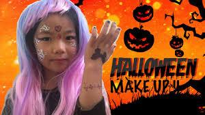 halloween face stickers halloween princess makeup for kids diy quick u0026 easy youtube