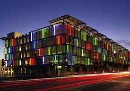 parking garage lighting levels 1st leed parking garage santa monica civic center inhabitat