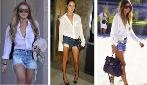 Preferidos Isa Who? » camisa branca e short jeans #KJ89