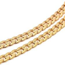solid gold chain necklace images Classics men solid gold gf cuban link chain real plated curb jpg